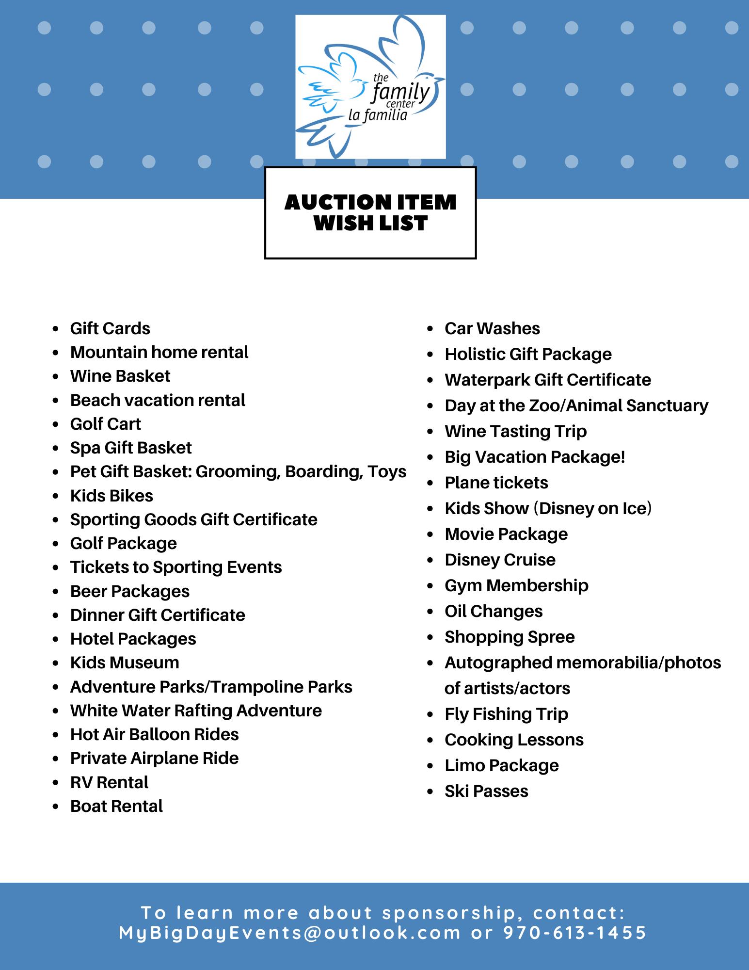 Auction Item Wish List Image