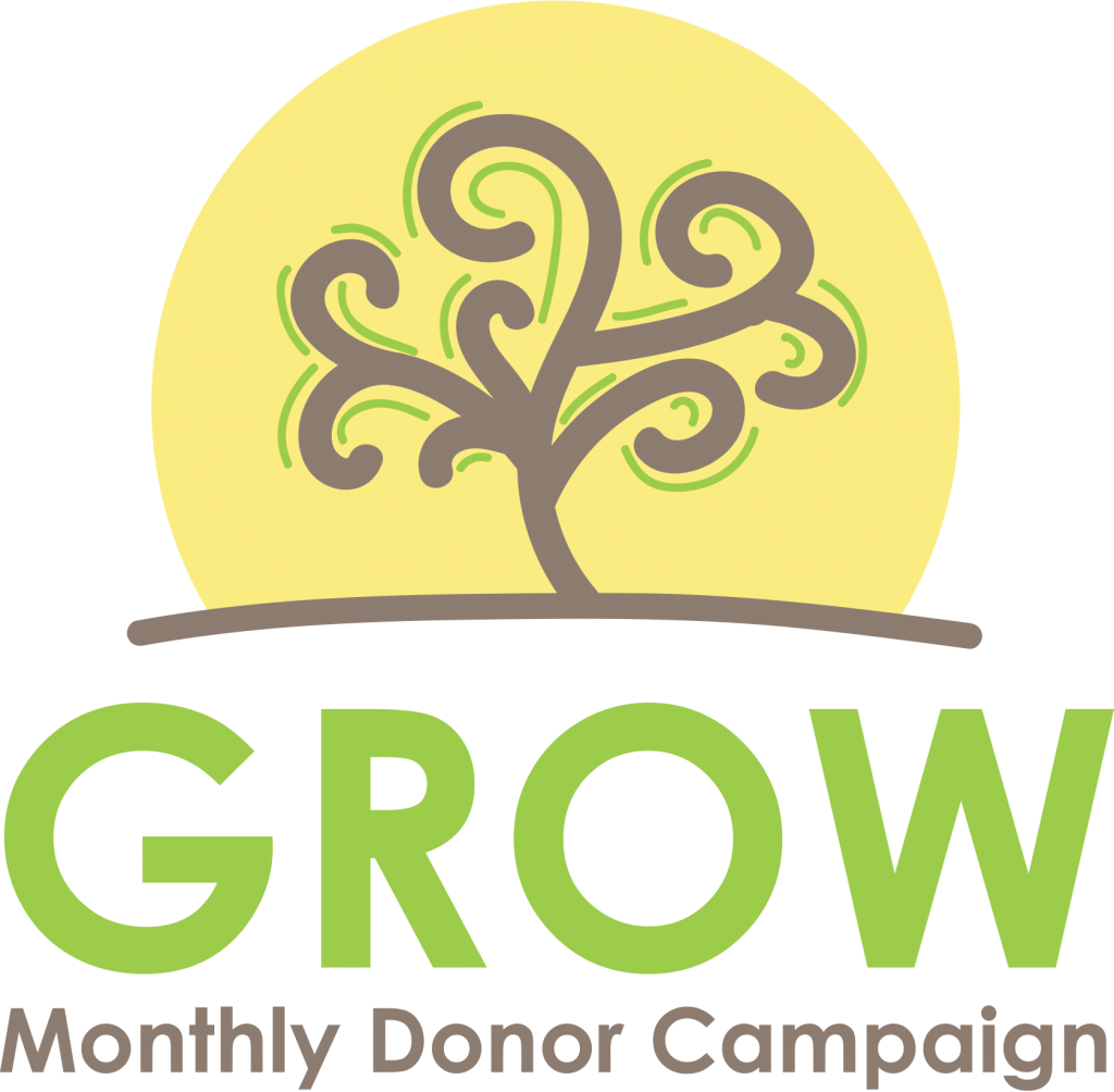 Grow Monthly Donor Campaign Logo